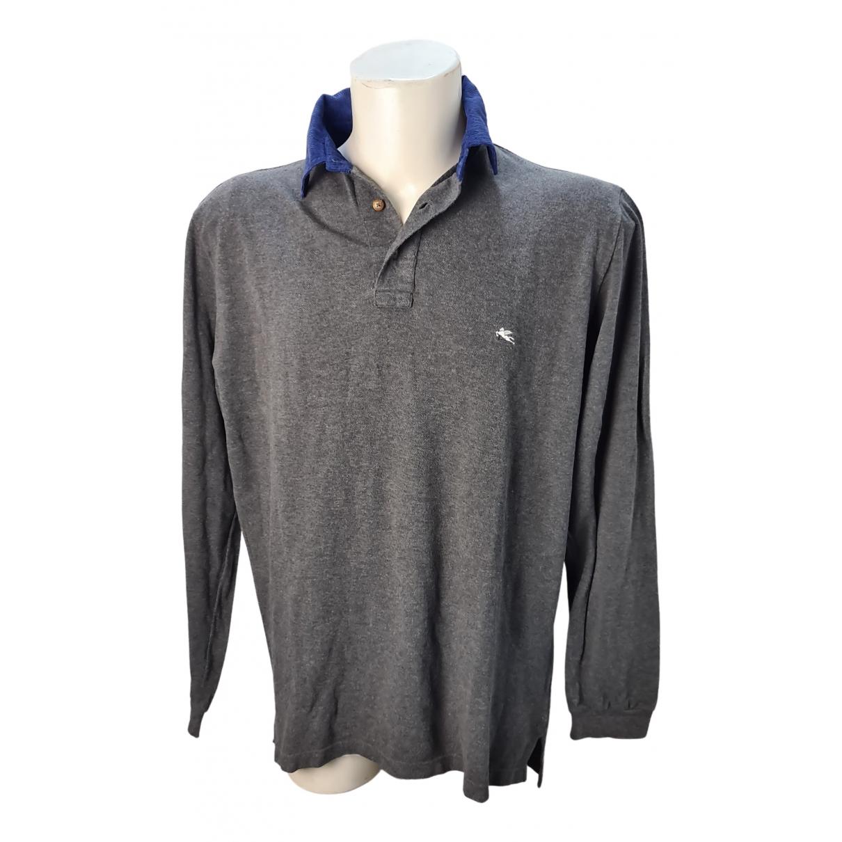 Etro - Polos   pour homme en coton - gris