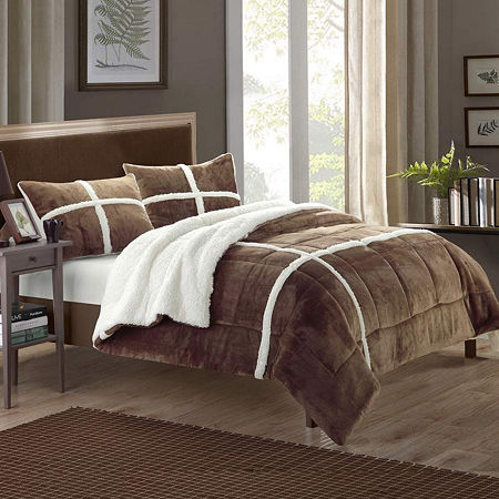 Chic Home Chloe New 7-pc. Midweight Comforter Set, One Size , Brown