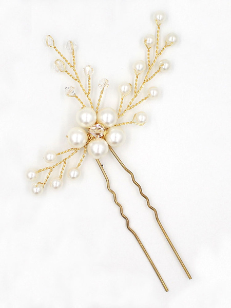 Milanoo Wedding Hair Pin Gold Branch Headpieces Bridal Hair Accessories