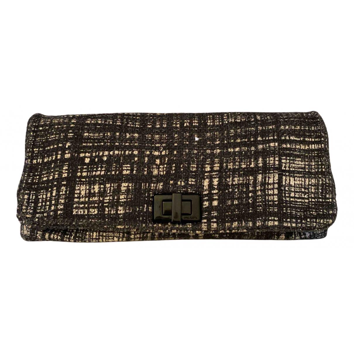Prada \N Clutch in  Schwarz Tweed