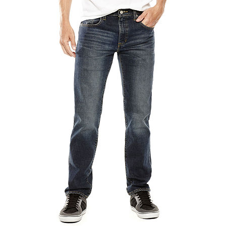 Arizona Men's Flex Skinny Jeans, 36 34, Blue