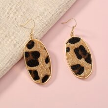 Ohrringe mit Leopard Muster