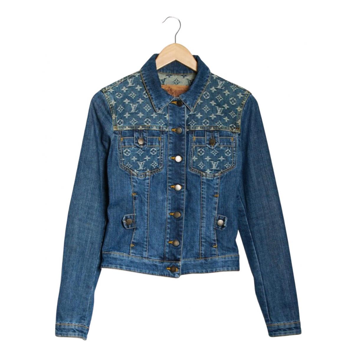 Louis Vuitton \N Jacke in  Blau Denim - Jeans