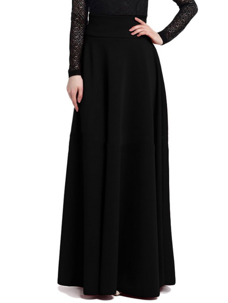 Ericdress Vintage Simple Full Maxi Skirt