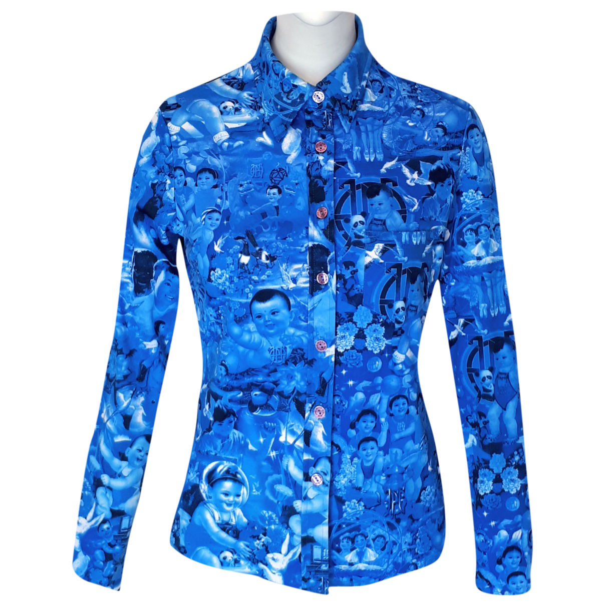 Jean Paul Gaultier \N Top in  Blau Synthetik