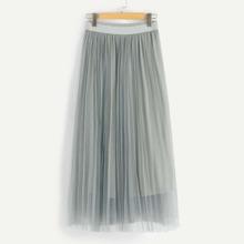 SHEIN Netz Rock mit breitem Taillenband und Falten