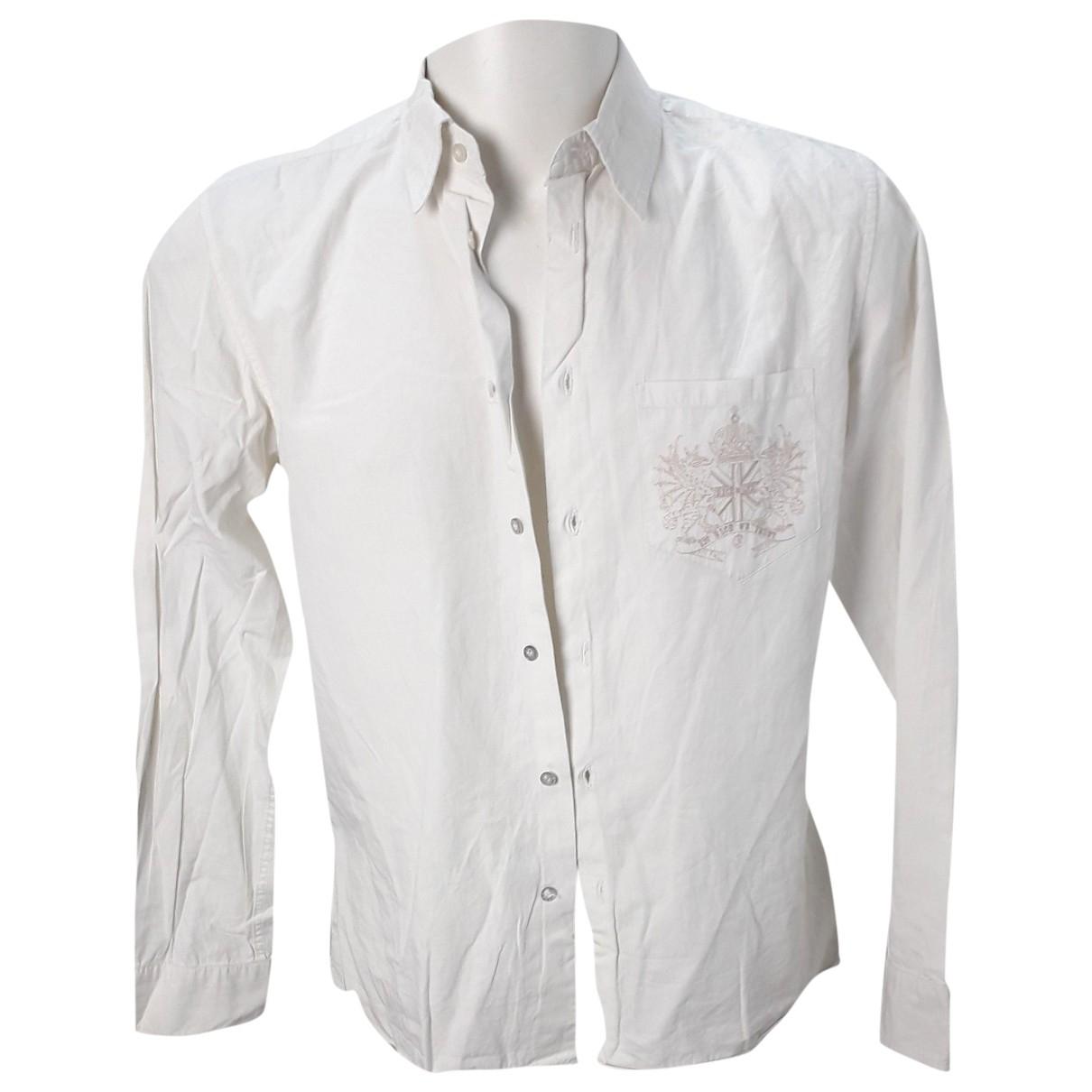 John Richmond \N Beige Cotton Shirts for Men M International