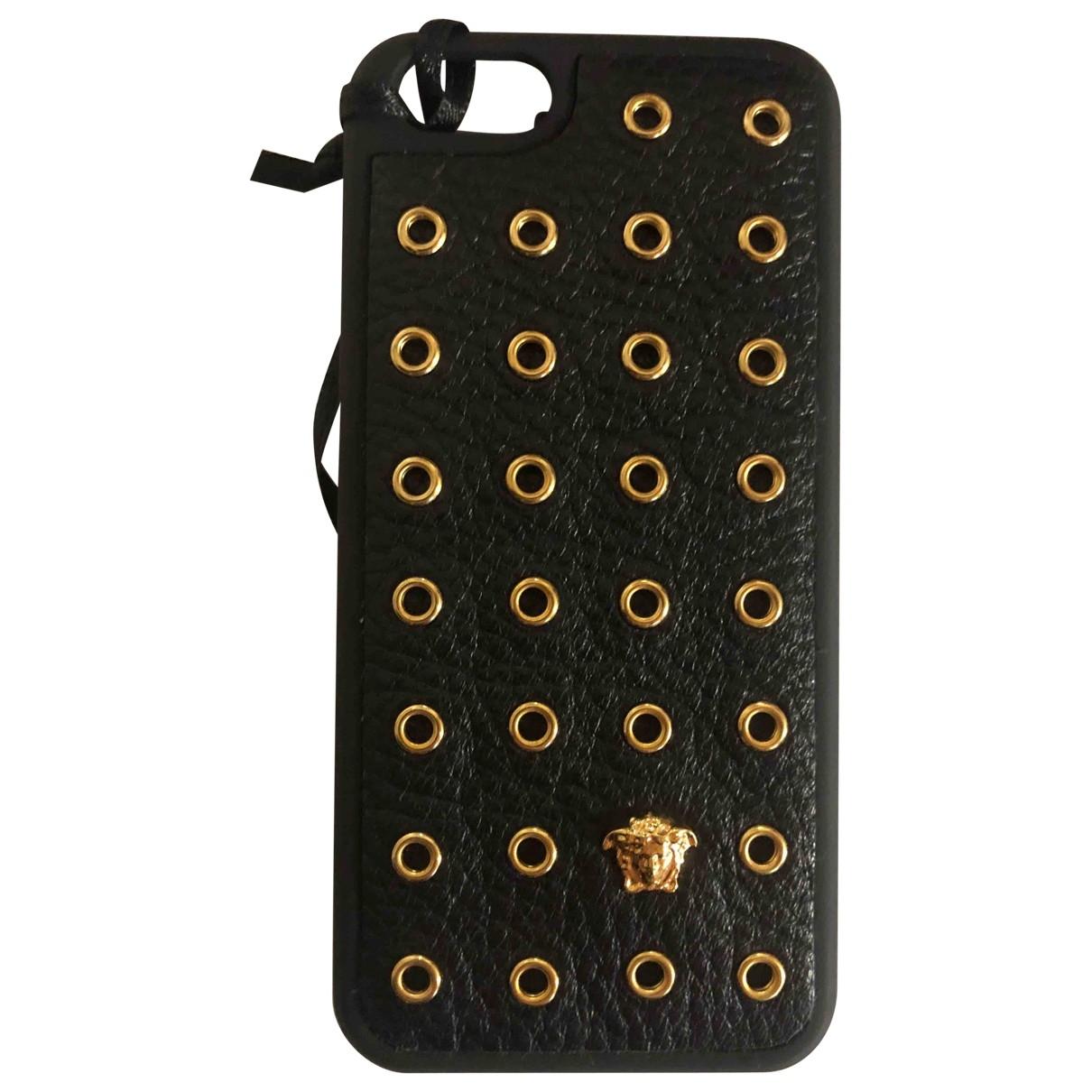 Versace \N Accessoires in  Schwarz Leder