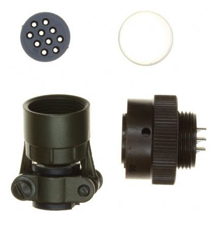 Souriau , 851 10 Way Cable Mount MIL Spec Circular Connector Plug, Pin Contacts,Shell Size 12, Bayonet, MIL-C-26482 G