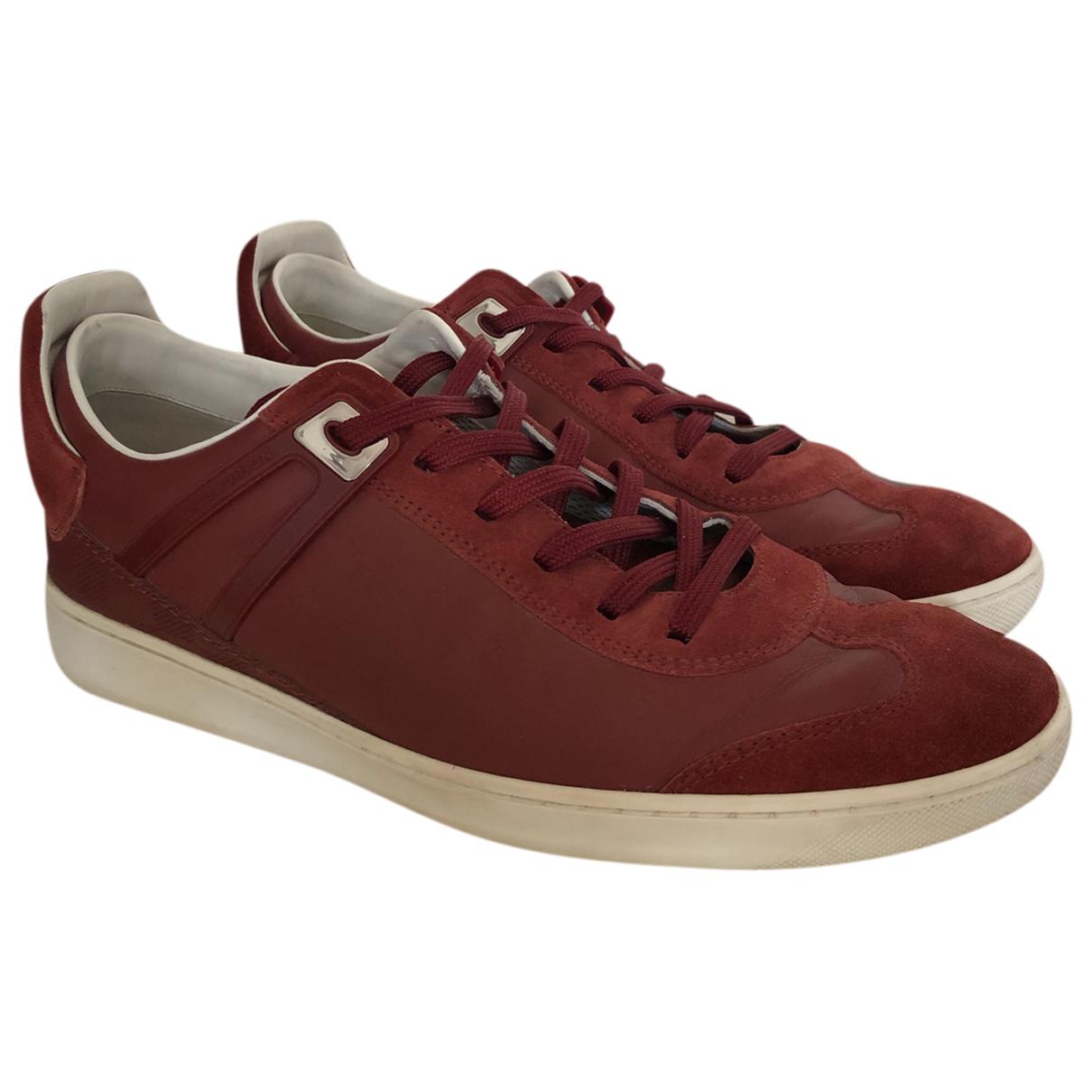 Louis Vuitton - Baskets   pour homme en cuir - rouge