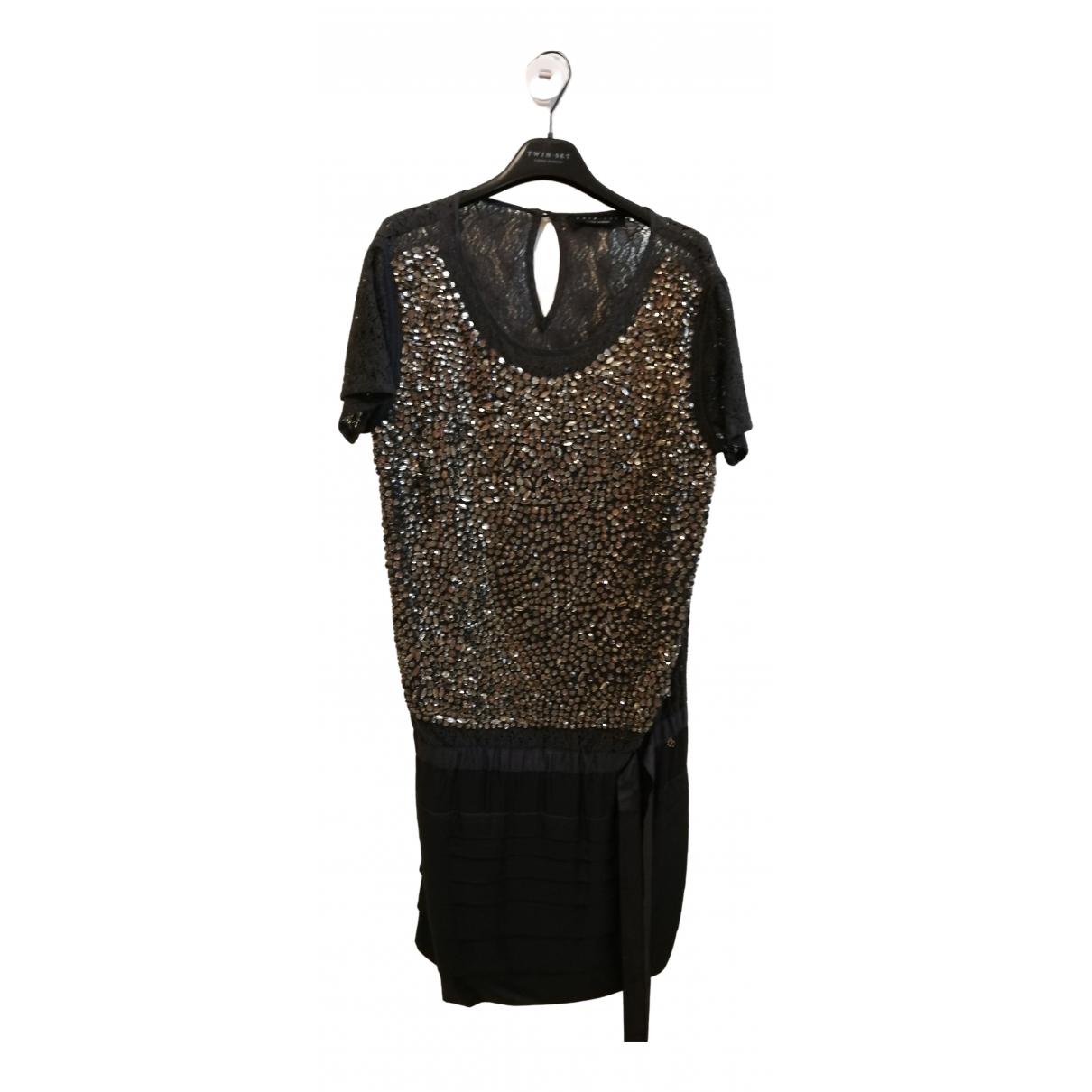 Twin Set \N Kleid in  Grau Mit Pailletten