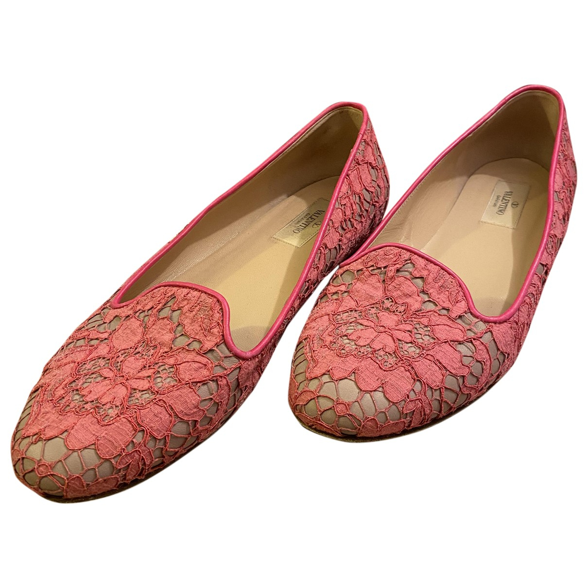 Valentino Garavani - Ballerines   pour femme en toile - rose