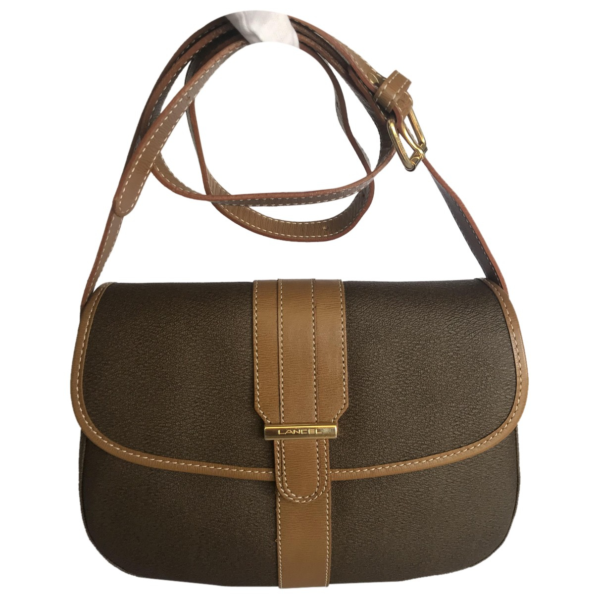 Lancel Bianca Brown Cloth handbag for Women N