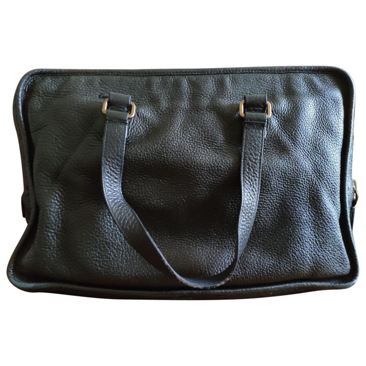 Prada \N Green Leather bag for Men \N