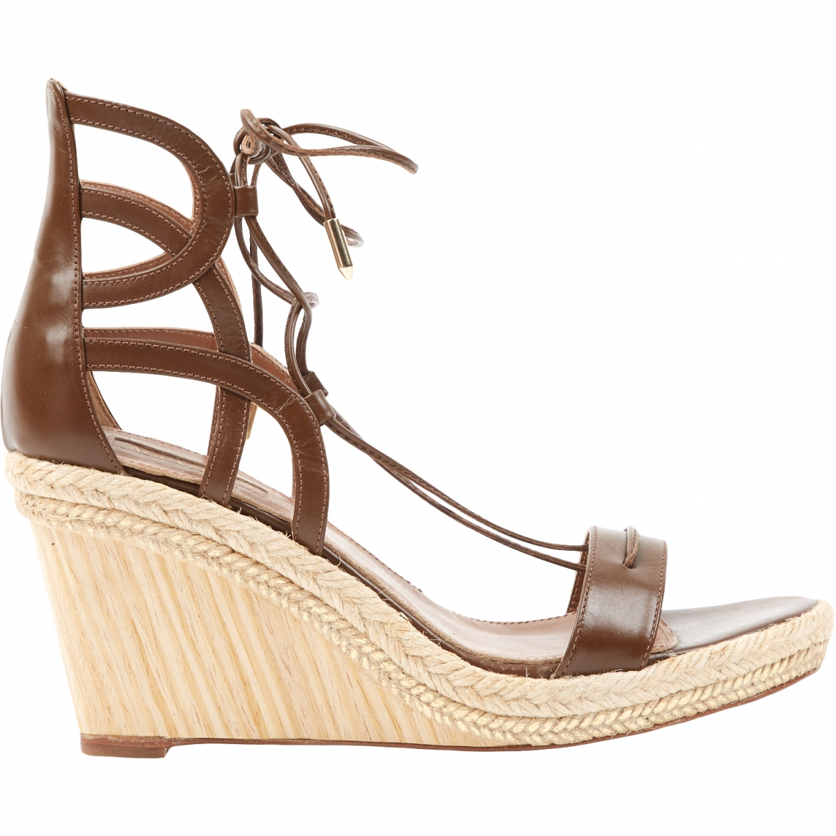Aquazzura \N Brown Leather Sandals for Women 37 EU