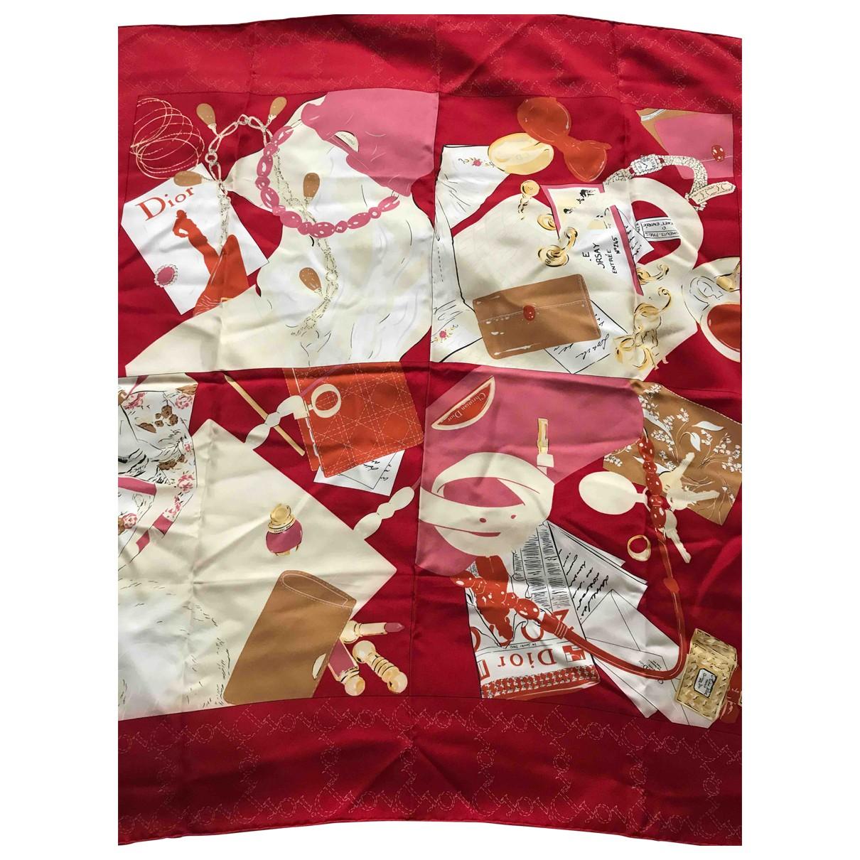 Dior \N Schal in  Rot Seide