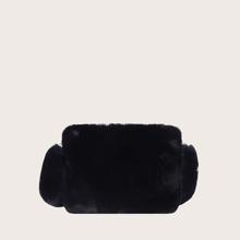 Bolsa de hombro con pelo sintetico