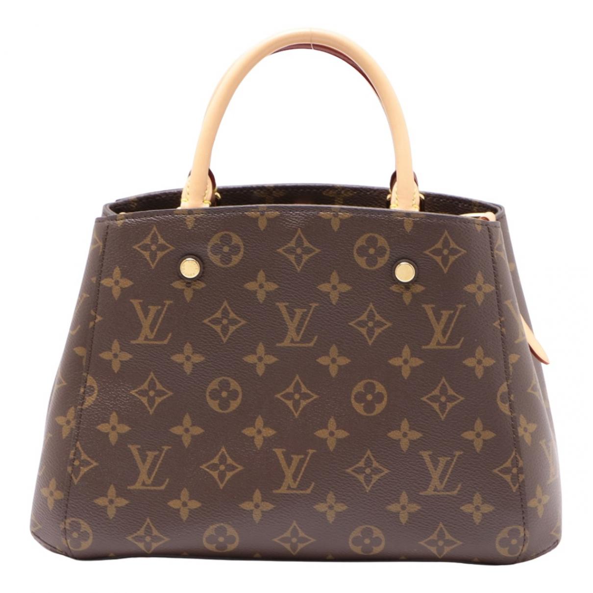Louis Vuitton Montaigne Brown Cloth handbag for Women \N