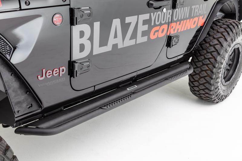 Go Rhino DS4505T Dominator DS Sliders w/ Optional Removeable Step Pads, Black Powdercoat Finish Jeep Wrangler 2007-2017