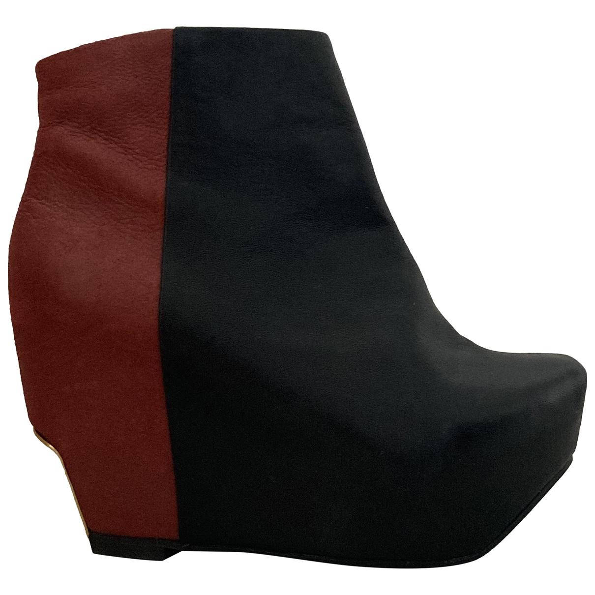 Miista - Boots   pour femme en cuir - noir
