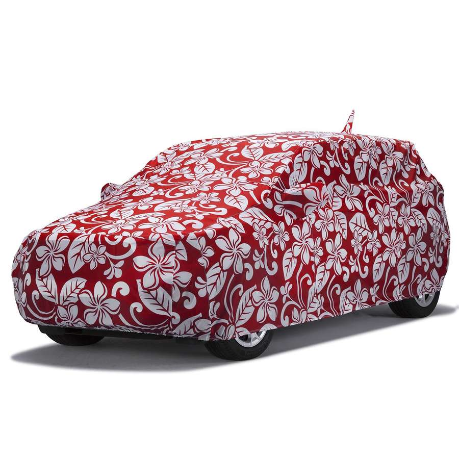 Covercraft C17496KR Grafix Series Custom Car Cover Floral Red Toyota Yaris 2012-2017