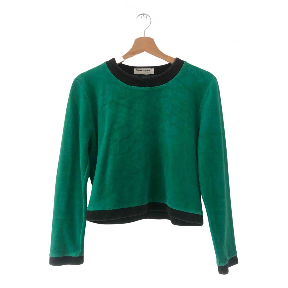 Pierre Cardin N Green Cotton Knitwear for Women 36 FR