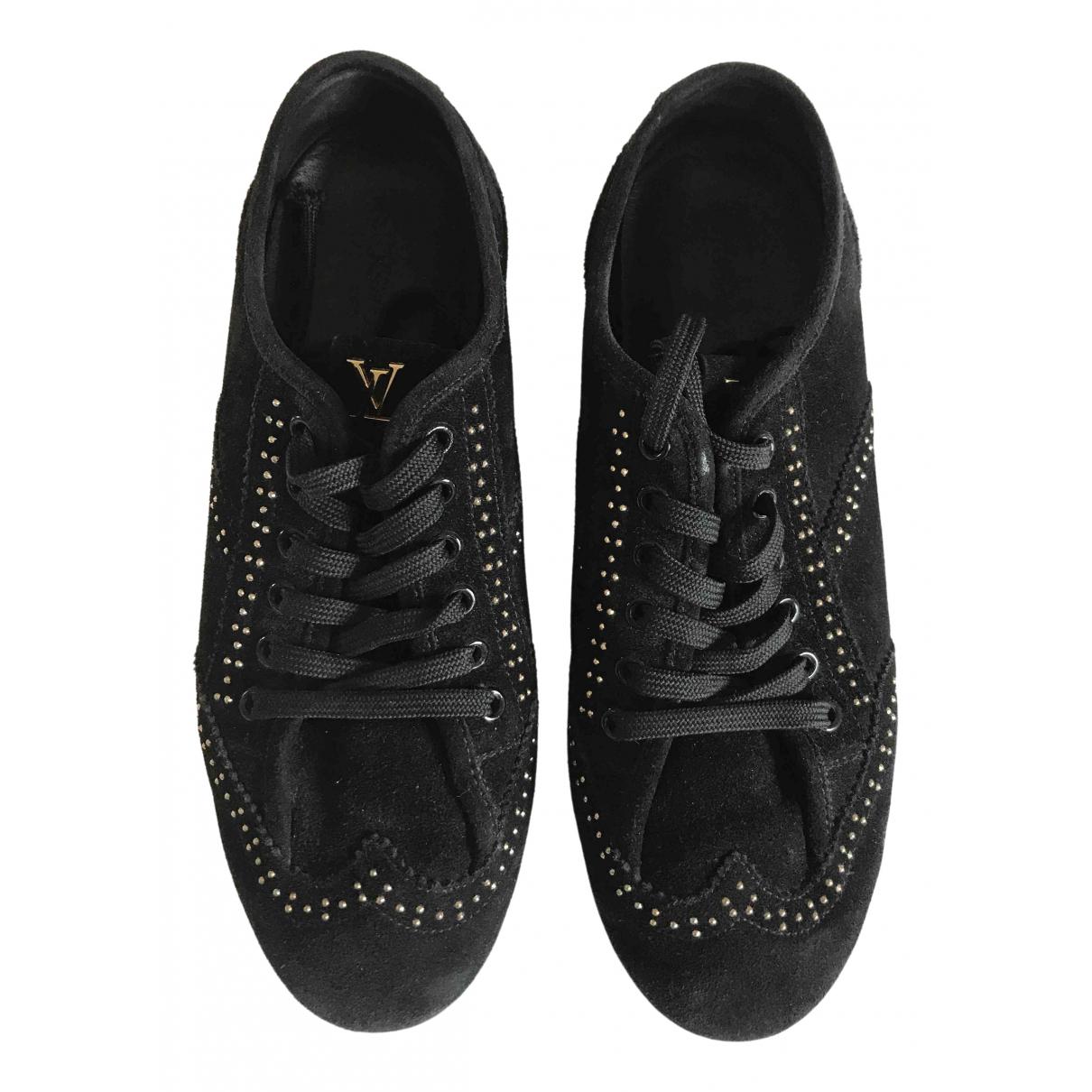 Louis Vuitton \N Black Suede Trainers for Women 36.5 EU