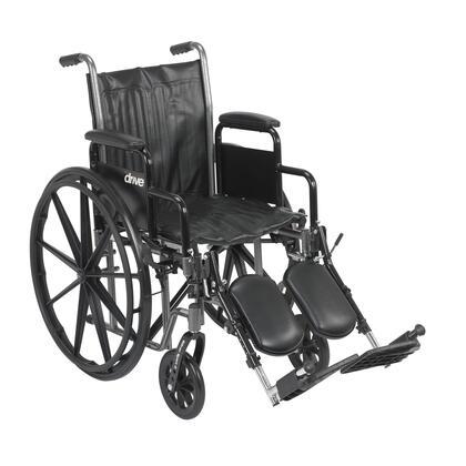 ssp216dda-elr Silver Sport 2 Wheelchair  Detachable Desk Arms  Elevating Leg Rests  16