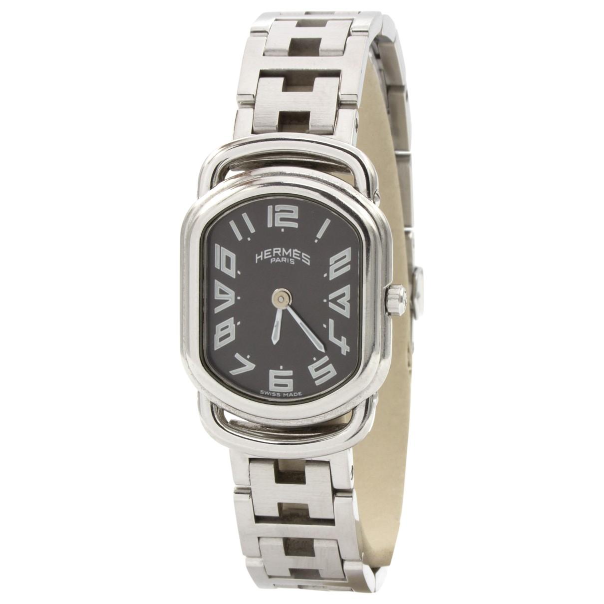 Hermès Rallye Silver Steel watch for Women \N