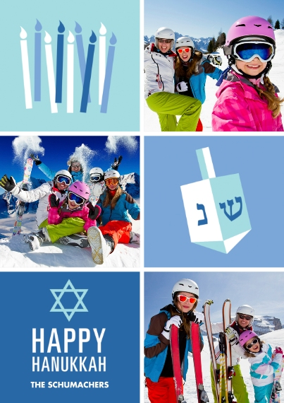 Hanukkah Photo Cards 5x7 Cards, Standard Cardstock 85lb, Card & Stationery -Hanukkah Gifts