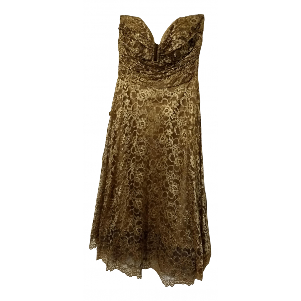 Non Signé / Unsigned N Gold Lace dress for Women 6 US