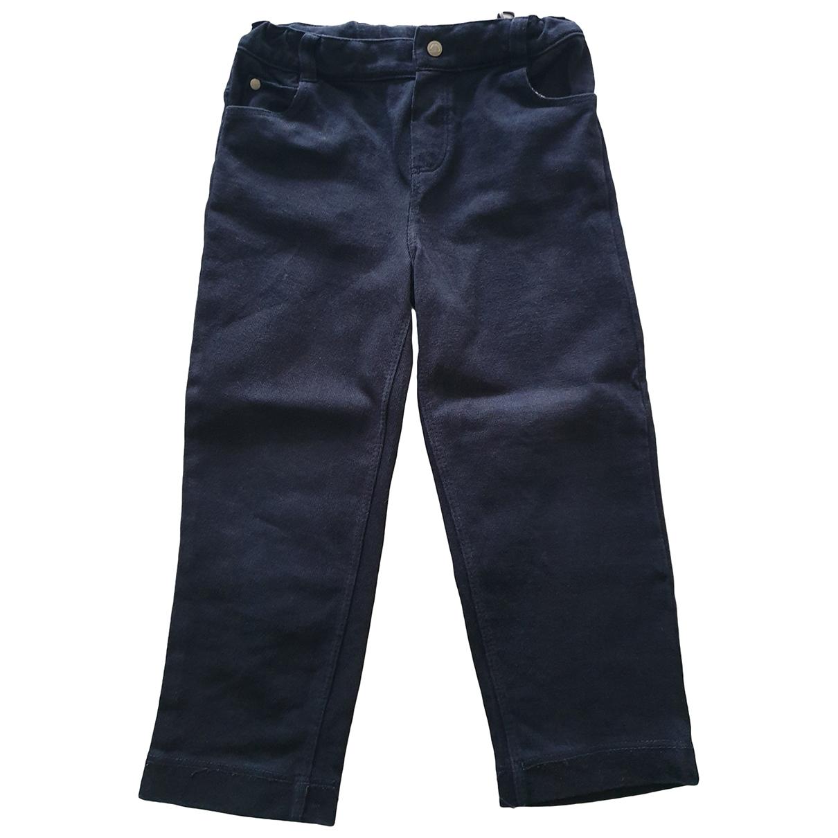 Jacadi - Pantalon   pour enfant en coton - bleu