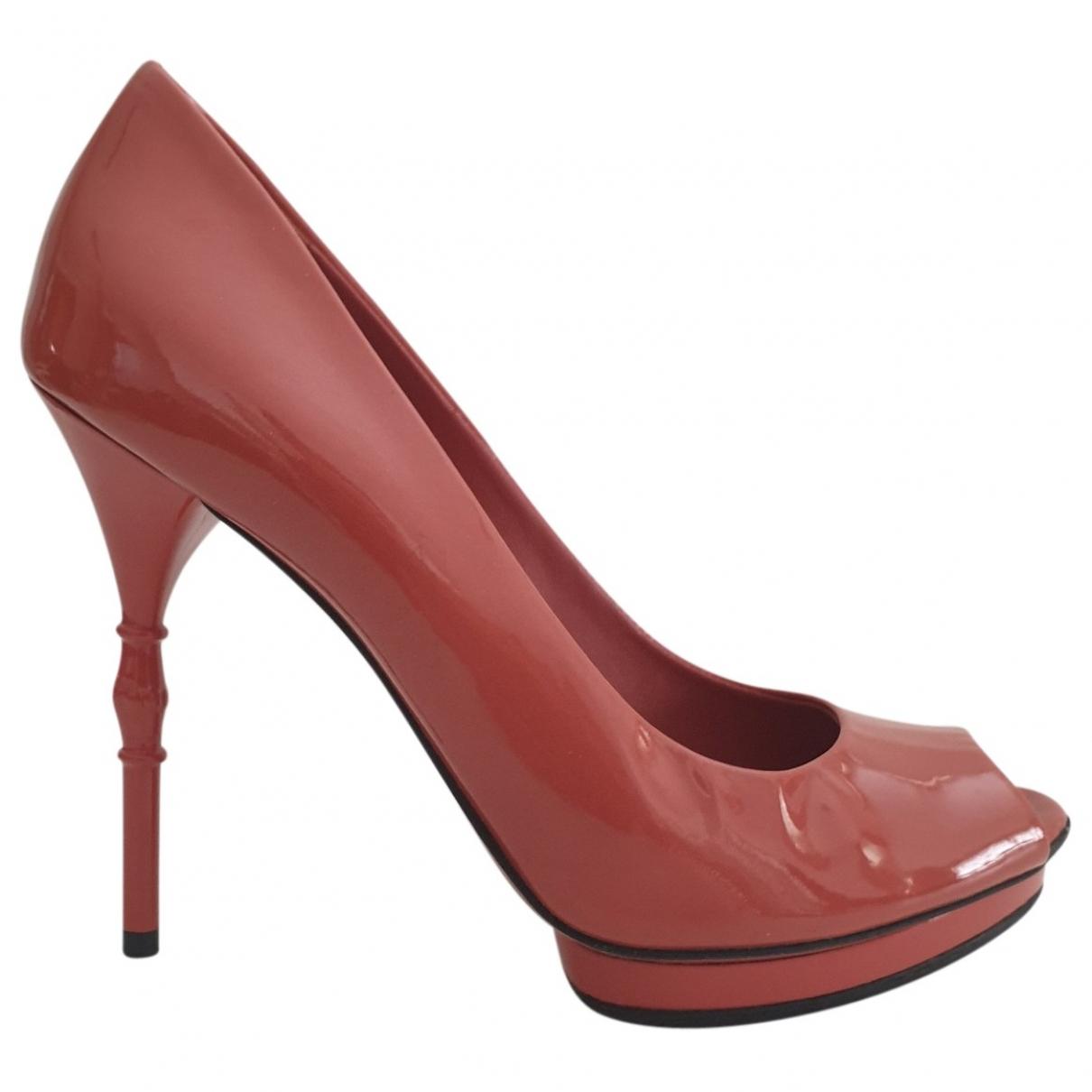 Gucci - Escarpins   pour femme en cuir verni - rose