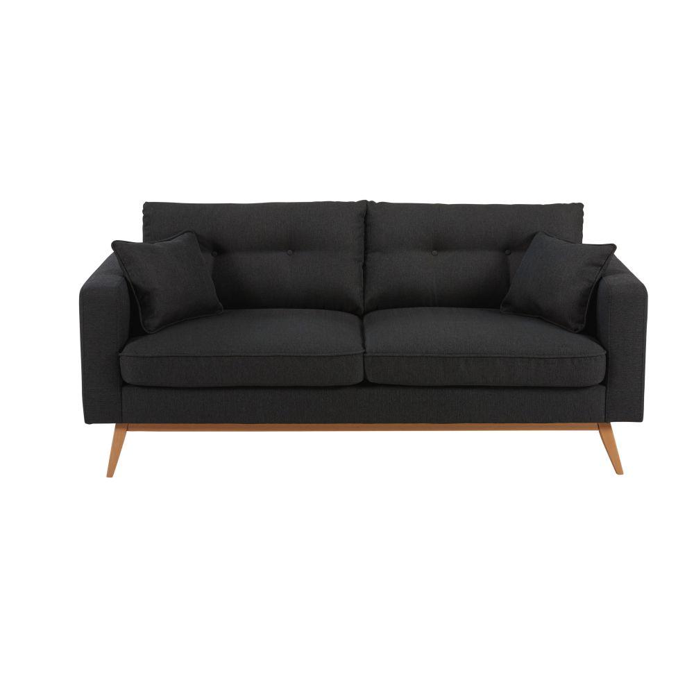Skandinavisches 3-Sitzer-Sofa, anthrazitgrau Brooke