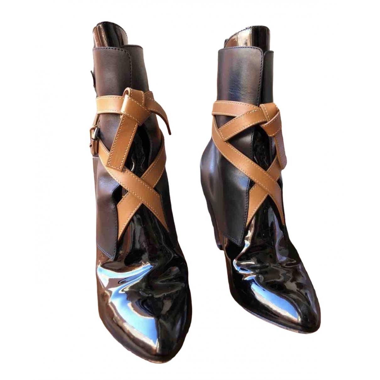 Louis Vuitton \N Black Patent leather Boots for Women 38 EU