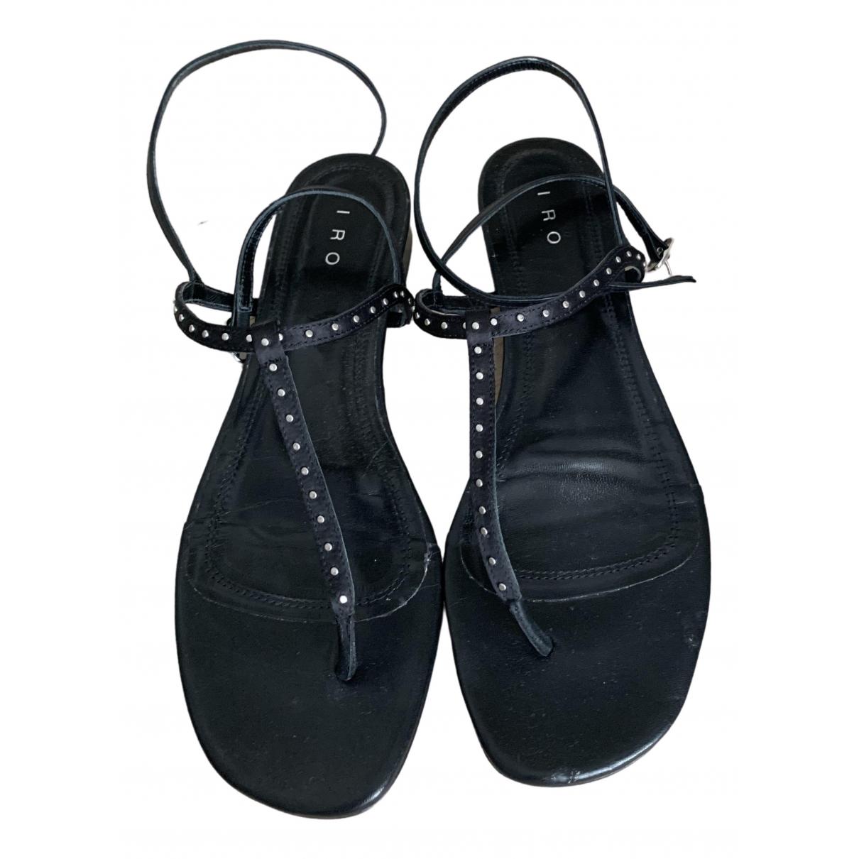 Iro Spring Summer 2020 Black Leather Sandals for Women 38 EU
