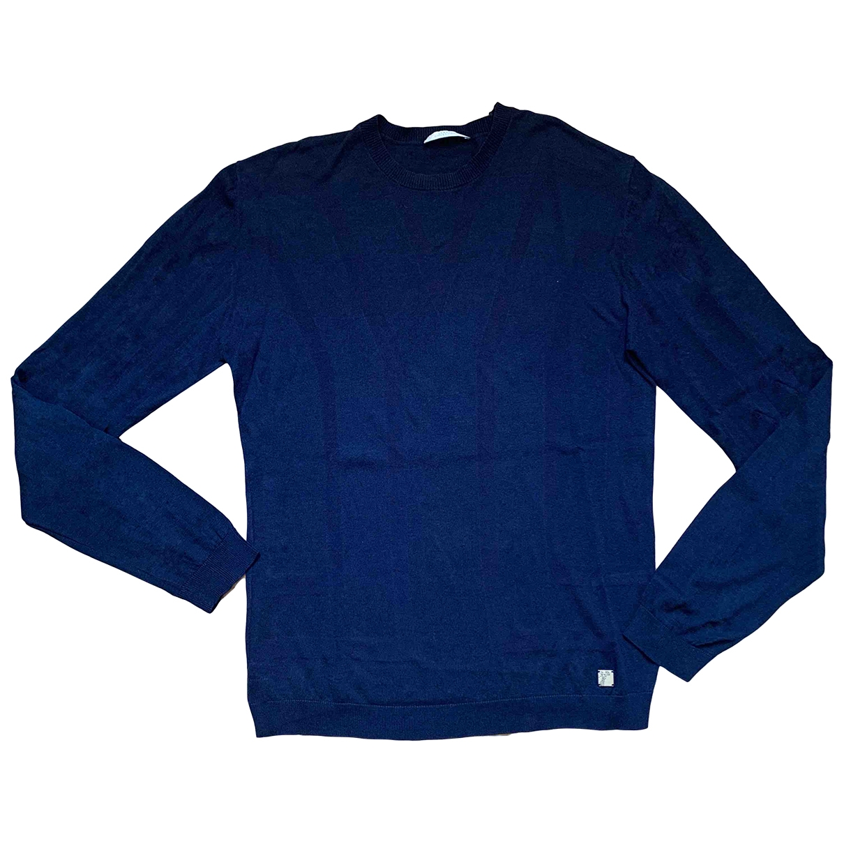 Versace \N Pullover.Westen.Sweatshirts  in  Marine Wolle