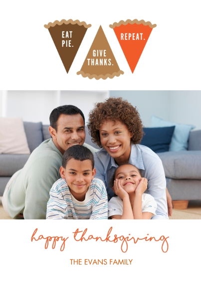 Thanksgiving Photo Cards 5x7 Cards, Premium Cardstock 120lb with Scalloped Corners, Card & Stationery -Yummy Pie