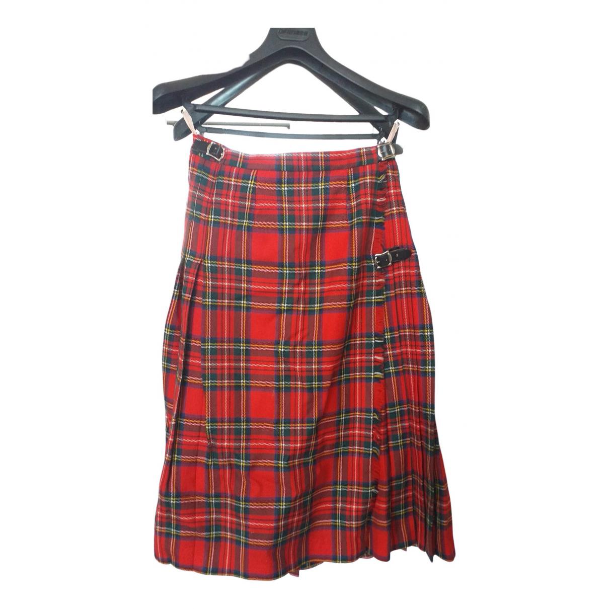 Jaeger London - Jupe   pour femme en laine - rouge