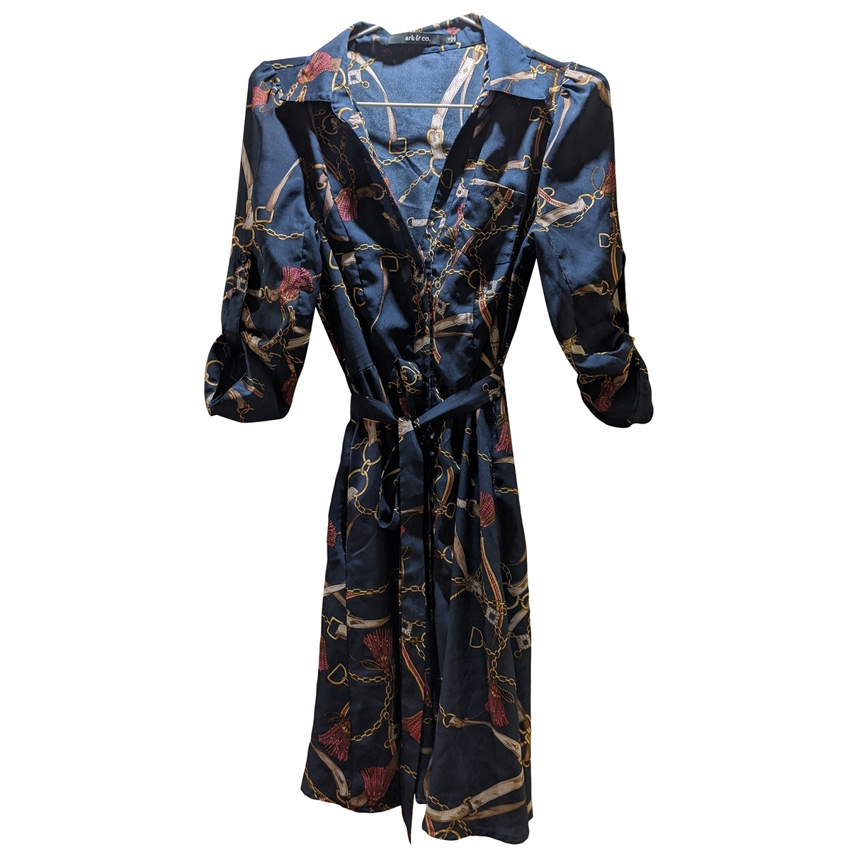 Non Signe / Unsigned \N Kleid in  Marine Synthetik