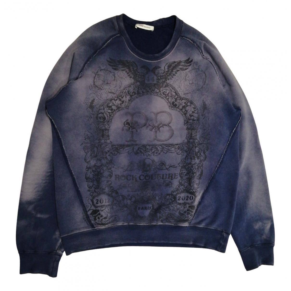 Pierre Balmain \N Blue Cotton Knitwear & Sweatshirts for Men XXL International