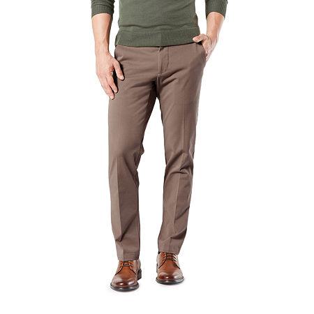 Dockers Men's Straight Fit Workday Khaki Smart 360 Flex Pants D2, 31 32, Brown