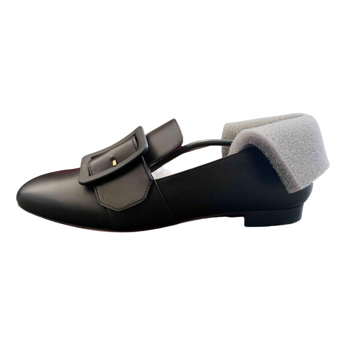 Bally \N Black Leather Flats for Women 35 EU
