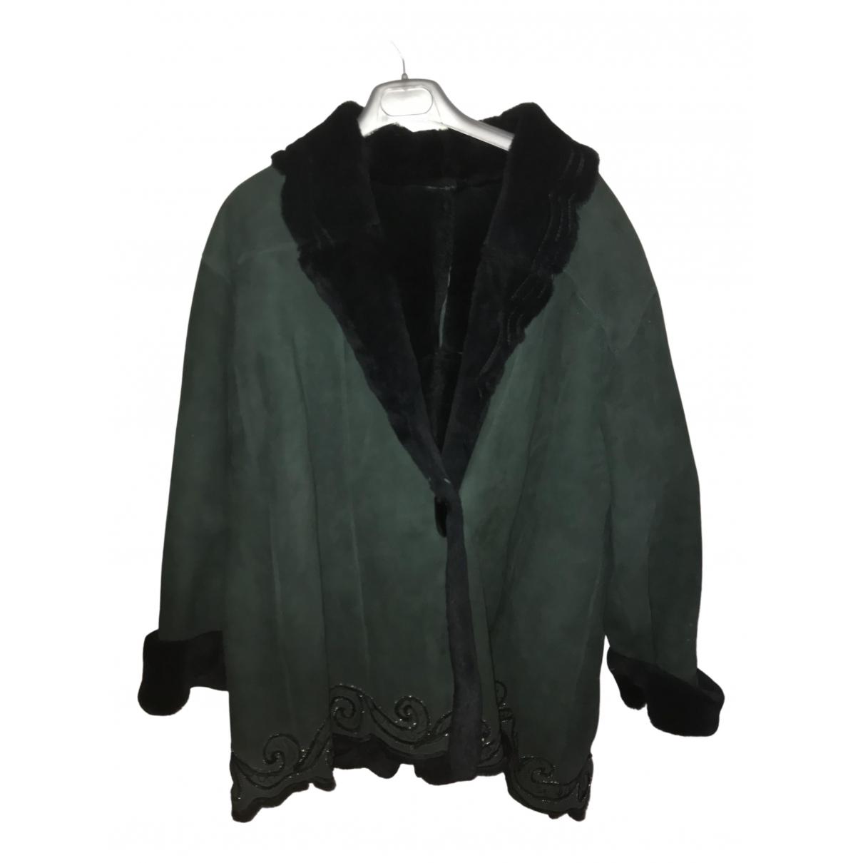 Shearling - Manteau   pour femme en mouton - vert