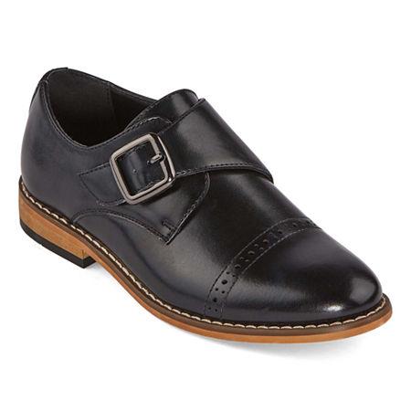 Stacy Adams Boys Desmond Monk Shoe, 13 Medium, Black