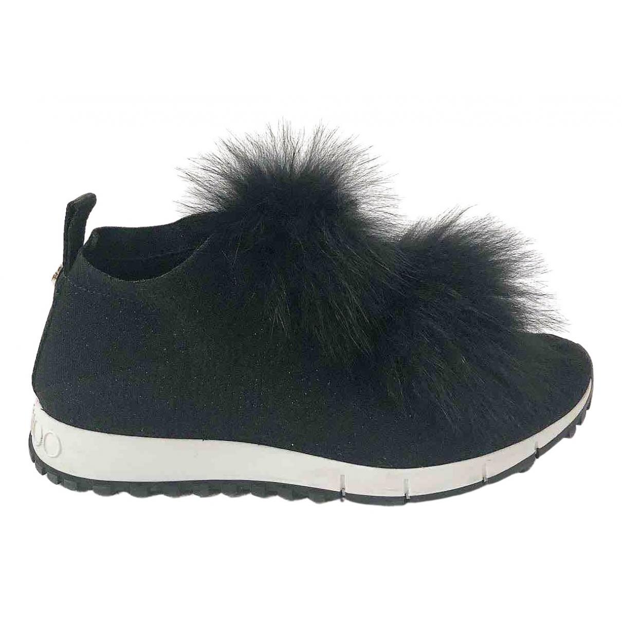 Jimmy Choo \N Sneakers in  Schwarz Fuchs