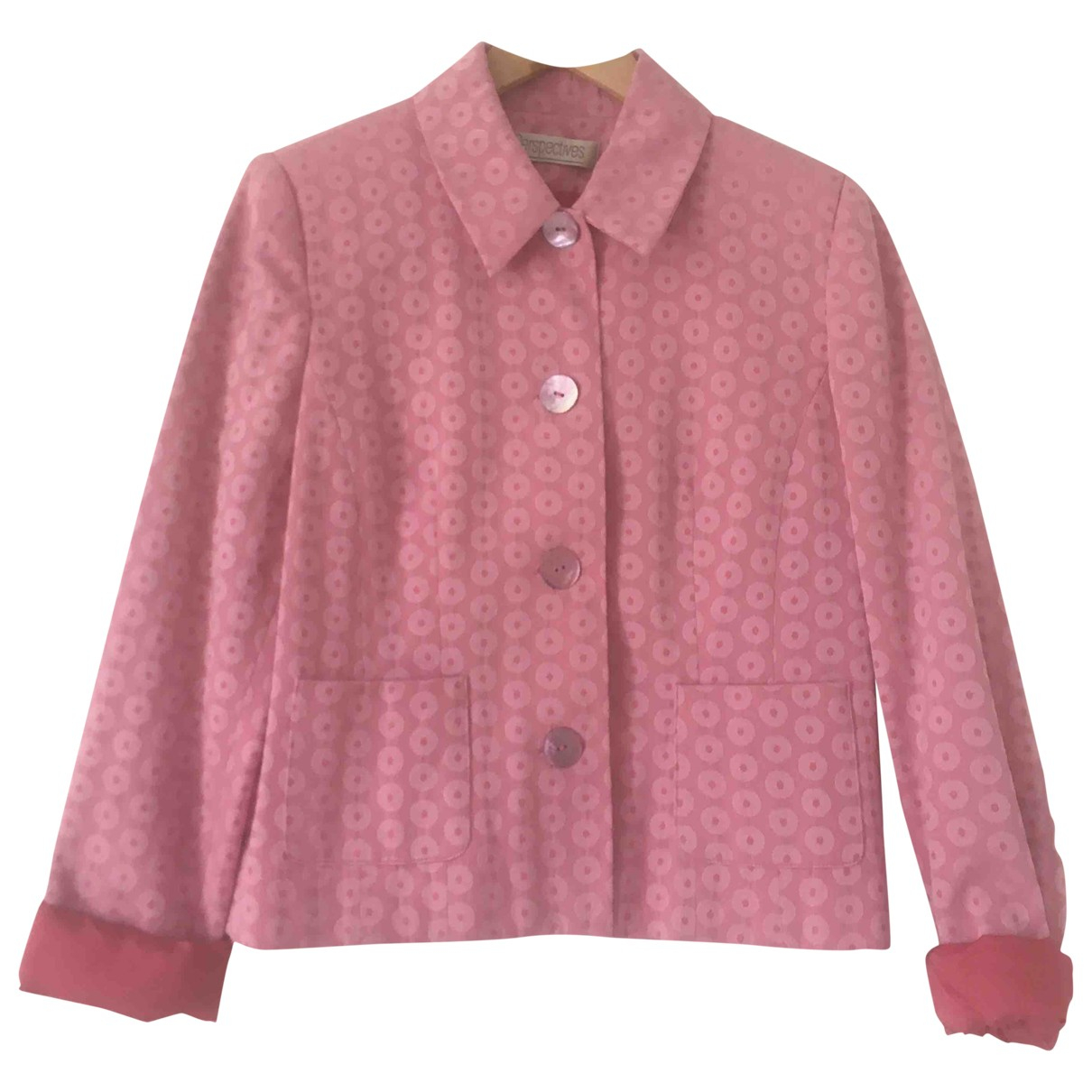 Non Signé / Unsigned Hippie Chic Pink jacket for Women 38 FR