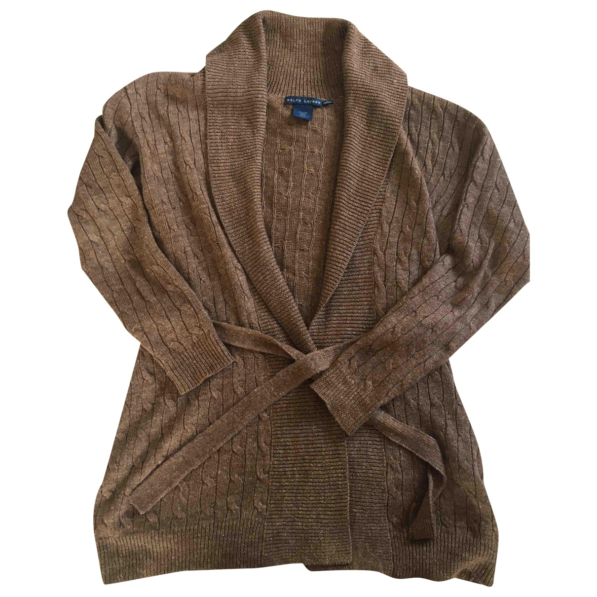 Ralph Lauren \N Brown Linen Knitwear for Women L International