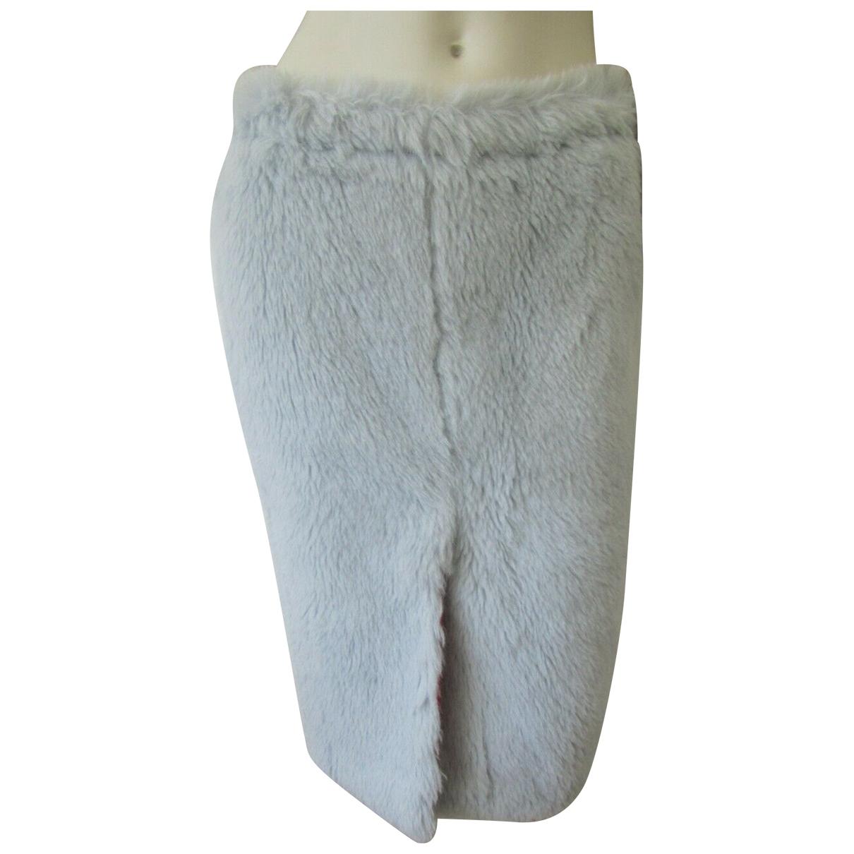 Marni - Jupe   pour femme en fourrure - bleu