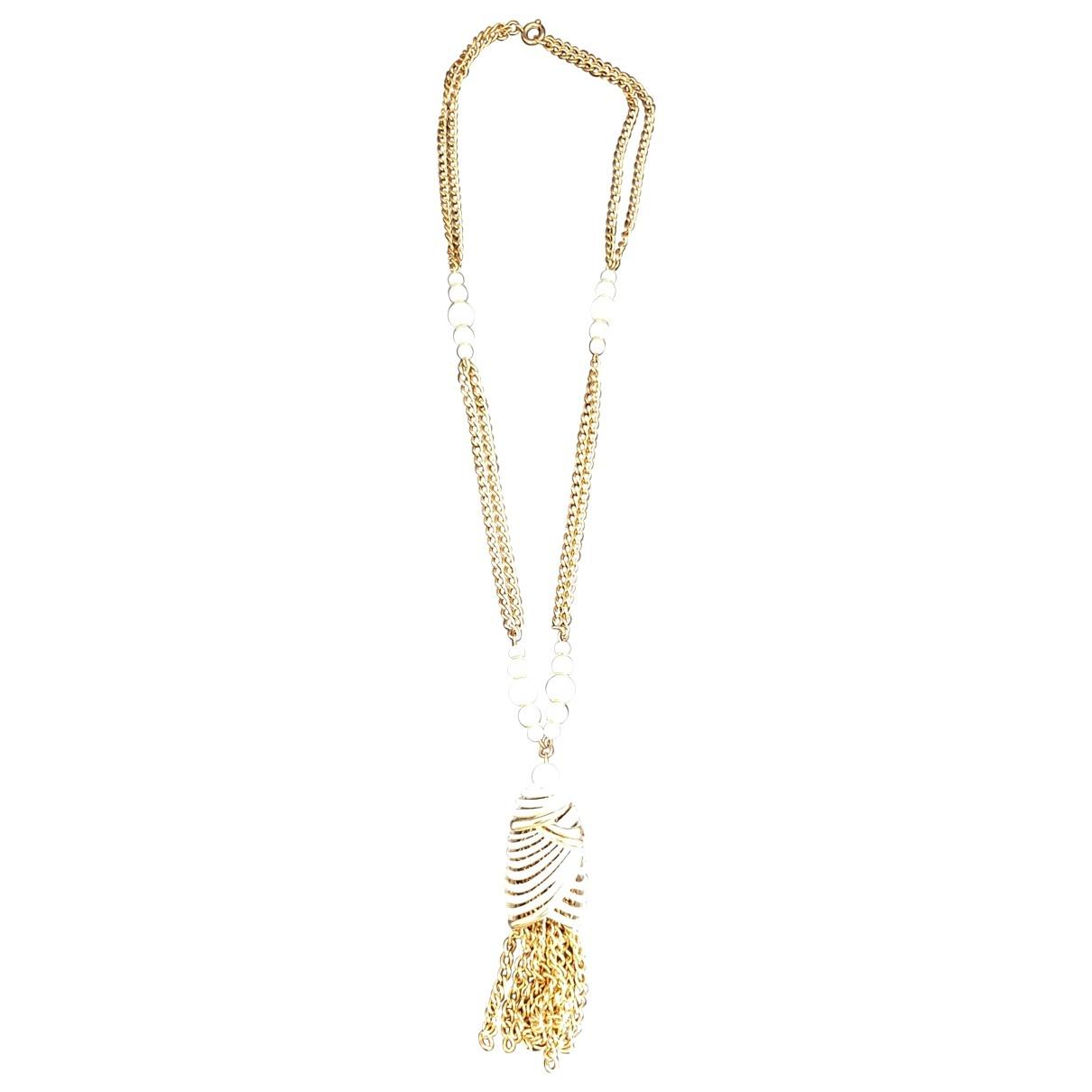- Collier Chaines pour femme en metal - blanc